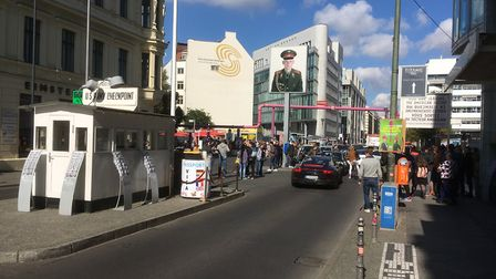 Checkpoint Charlie has been transformed. Picture: PAUL GEATER