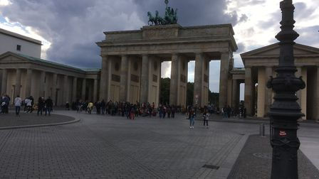 Apart from the Berlin Wall, the other great symbol of the divided city was the Brandenburg Gate Pict