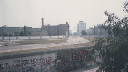 Potsdamer Platz on the Berlin Wall Picture: CHARLES MACDOWELL