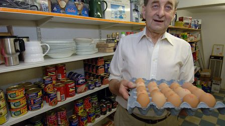Tony Whatling - 80 years old - in his Westhall shop. Picture: Bill Darnell