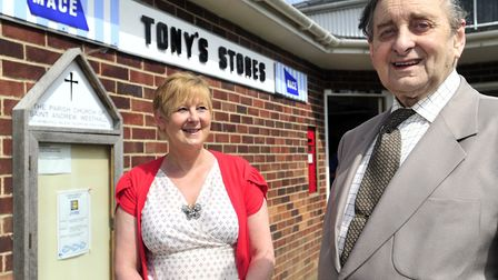 Tony Whatling of Tony's Stores in Westhall, after being invited for tea at the Houses of Parliament