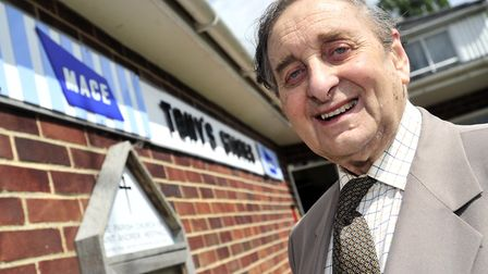 Tony Whatling outside Tony's Stores in 2012 Picture: LUCY TAYLOR