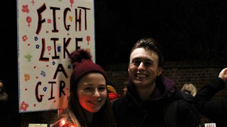 Protestors at the Reclaim the Night march in Colchester Picture: MEGAN SALIU