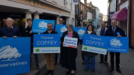 Therese Coffey launched her re-election campaign in Woodbridge. Picture: PAUL GEATER