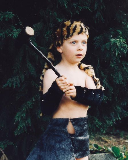 Alec Newland, pictured aged four, has always held an interest in history and traditional ways of liv