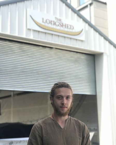Alec Newland is currently volunteering at the Longshed in Woodbridge where plans to build a full siz