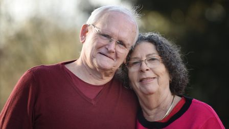 Alan Clapson with his wife Sue, who had her life saved by CPR Picture: SARAH LUCY BROWN