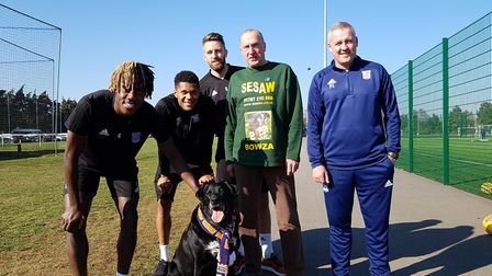 Bowza has even met the ITFC manager Paul Lambert and other town players. Picture: RACHEL EDGE