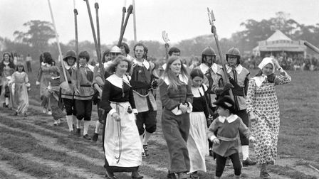 Women and their children took part in the re-enactment, dressed in traditional clothing Picture: D