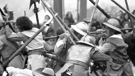 Armour was worn by the men during a battle scene Picture: DAVID KINDRED