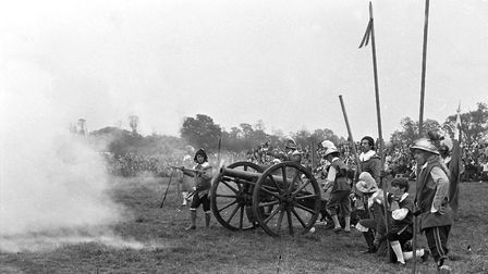 A small canon was used at the siege, smoke pours out as it was fired Picture: DAVID KINDRED