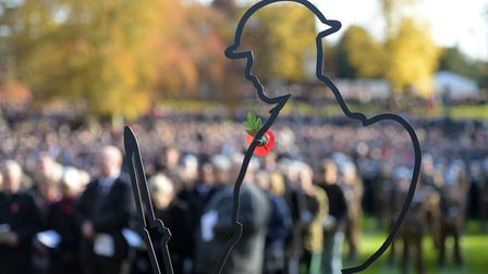 Crowds of people attended the Remembrance Sunday serivice at The Cenotaph in Christchurch Park Pict
