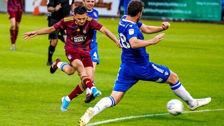 Idris El Mizouni is likely to feature for a young Ipswich Town side at Colchester United tonight. Ph