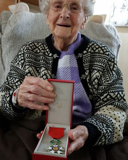 An official from the French government will visit Marjorie in Dedham for a ceremony Picture: RACHEL
