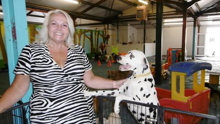 Candace Rose, who was involved in running the business, pictured with her Dalmatian Merriles Picture