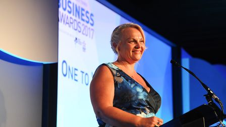 Candace Rose at the EADT business Awards in 2017 Picture: SARAH LUCY BROWN
