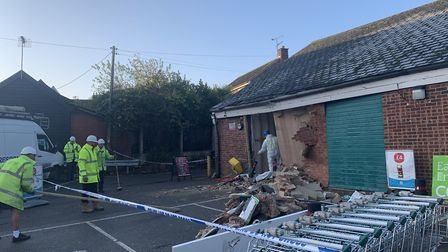 One man has been arrested following the incident at the Chancery Lane store in Debenham Picture: MAT
