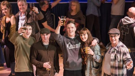 Cheers emjoying the Beccles Beer Festival. Picture: Nick Butcher
