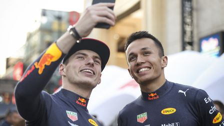 Alex Albon and his teammate Max Verstappen Picture: MEG OLIPHANT/ GETTY IMAGES