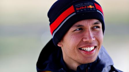 Albon said that he was thankful to be able to stay on for another year Picture: MARK THOMPSON/ GETTY