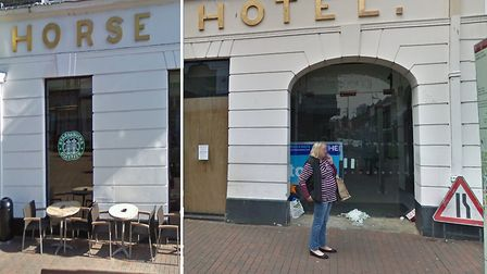 The White Horse Hotel in 2009 and in 2019 Picture: GOOGLEMAPS