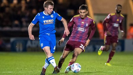 Tom Lapslie and Idris El Mizouni in action during the first half.Picture: Steve Waller www.