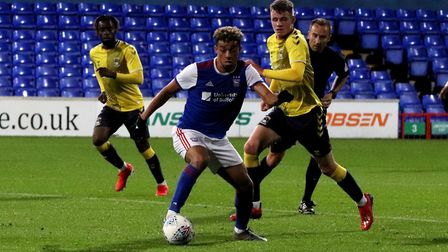 Ben Folami in action for Town U23s against Coventry City at Portman Road Picture: ROSS HALLS