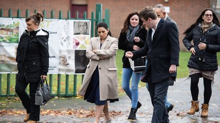 Home Secretary Priti Patel has a walk around the Queensway area of Ipswich. Picture: SARAH LUCY BROW