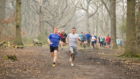 Action from the Hockley Woods parkrun, in South-East Essex. Picture: HOCKLEY WOODS PARKRUN FACEBOOK