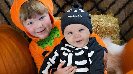Ben, aged three, with his baby brother. Suffolk Babies is based in Kesgrave and holds classes across