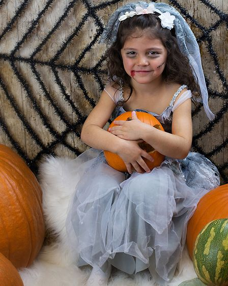 Ilyana, nearly four, in her costume at one of the Suffolk Babies sessions Picture: RUTH LEACH
