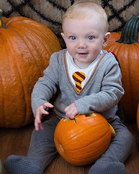 Nine-month-old Felix at one of Suffolk Babies' Halloween events Picture: RUTH LEACH