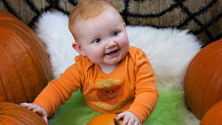 A smiling Elsie, who is eight months old Picture: RUTH LEACH