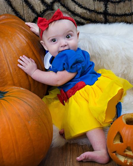 Audrey, six months, in costume at Suffolk Babies Picture: RUTH LEACH