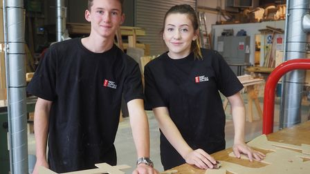 Construction students at West Suffolk College. Picture: DANNY HEWITT