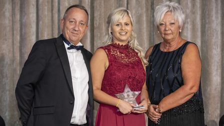 Beth Harvey from Barking Hall Nursing Home, near Needham Market won the Carer of the Year Award in t