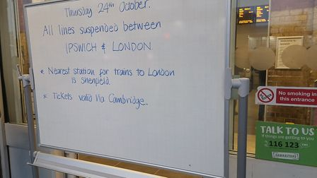 All trains disrupted between Colchester and Marks Tey Picture: ARCHANT