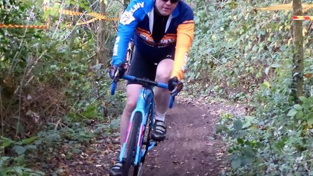 Steve Grimwood – a nostalgic ride for the Elmy Cycles proprietor in the Colchester Rovers event. Pi