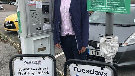 BID chief executive Mark Cordell with the recently installed payment technology at St Andrews Street