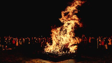 The Pyre Parade, part of a new Ipswich tradition, which invites people to write down their bad news