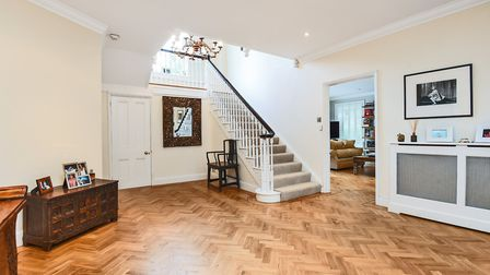 A herringbone floor at Cockfield House. Picture: BEDFORDS