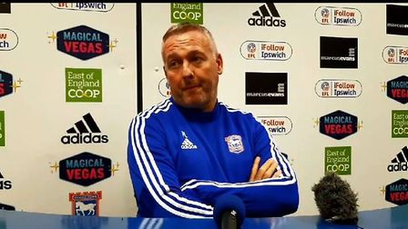 Ipswich Town boss Paul Lambert met the media ahead of his side's trip to Southend this weekend. Pict