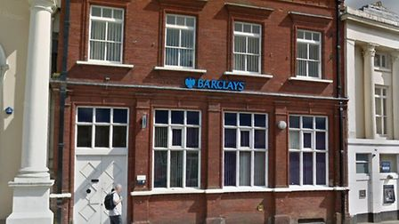 Barclays Bank in Sudbury is now closed on Thursdays - market day in the town. Picture: GOOGLE MAPS