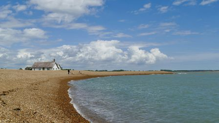 A girl was dragged waist deep into 'quicksand' at Shingle Street near Hollesley in Suffolk Picture: