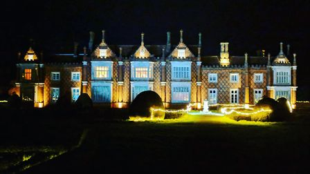 Illuminated Helmingham Hall. Their illuminated garden trail will provide visitors with a magical exp