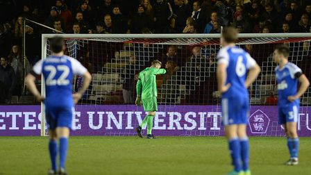 Ipswich Town were dumped out of the FA Cup by Lincoln City in 2017. Photo: Pagepix