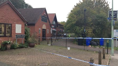 A large police cordon was put in place at the scene Picture: ARCHANT