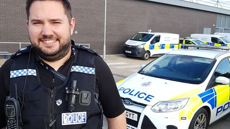 PC Dan Low helped us capture a day in the life of a police response officer Picture: RACHEL EDGE