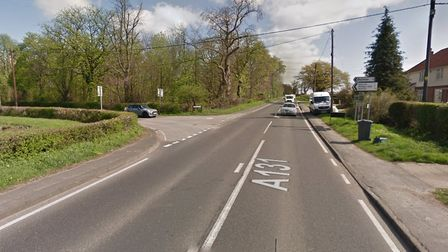 A motorcyclist has been taken to hospital after a collision on the A131 Picture: Google Maps