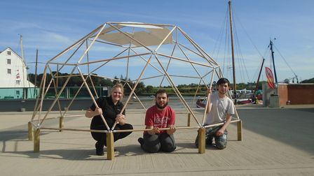 The youngsters will rebuild the dome to sell at the Silent Auction being held at Just42's Fundraisin